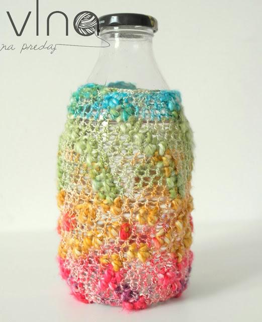Háčkovaný obal na fľašu