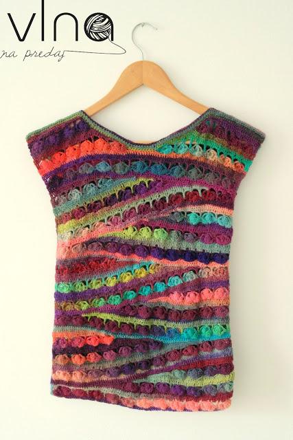 Háčkované letné tričko