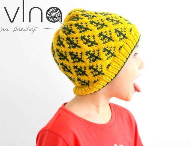 Pletená čiapka s nórskym vzorom