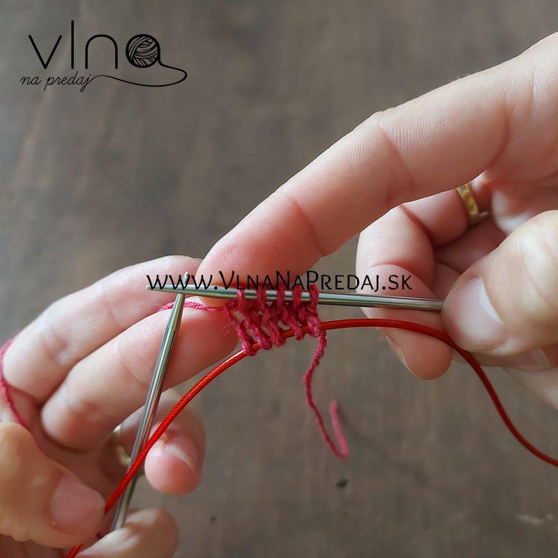 návod na pletené tielko